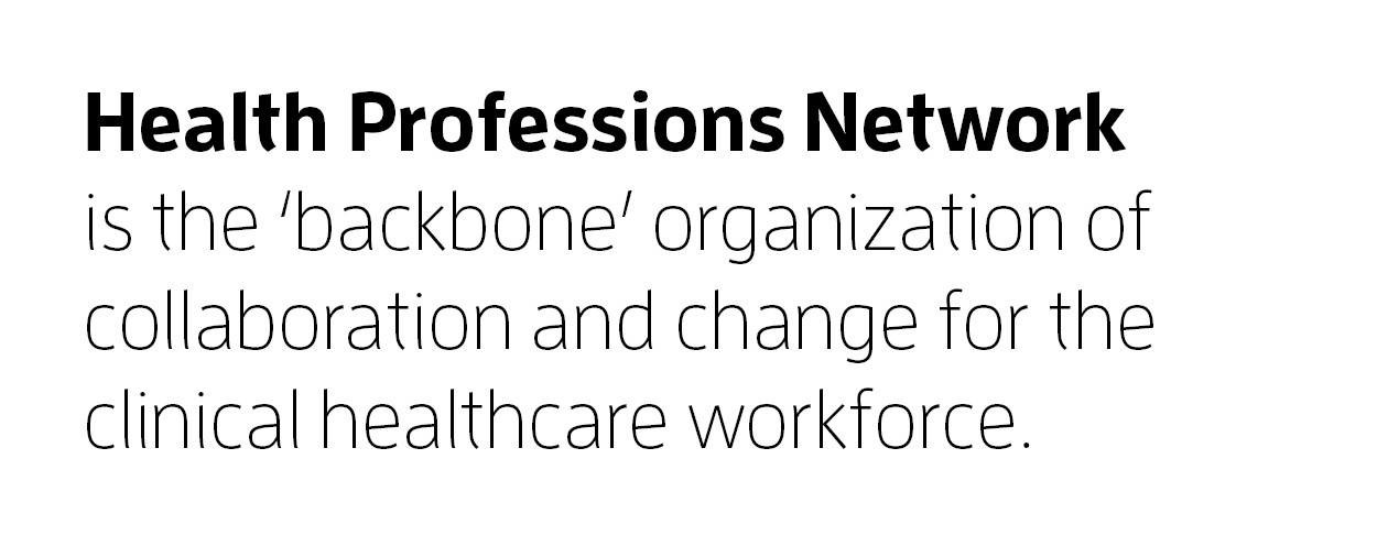Health Professions Network is the backbone organization of collaboration and change for the clinical healthcare workforce.